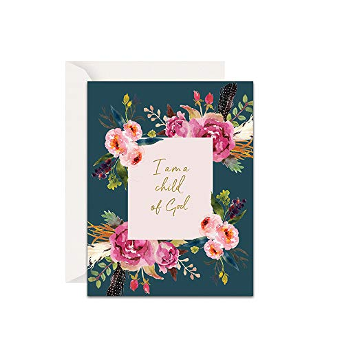 Scripture cards – Inspirational Christian encouragement flower watercolor motivational Bible verse quote greeting cards with envelopes – Set of 10