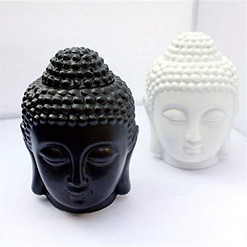 Estatua de Buda, Lámpara de aceite quemador de aceite esencial decoración para el hogar Regalos de la decoración de Buda vela de aromaterapia Horno de cerámica Aromaterapia Lámpara Vela Aroma Horno