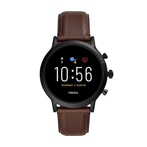 Fossil Smartwatch Touchscreen Connected Uomo Acciaio inossidabile FTW4026, Marrone