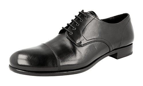 Prada Herren Schwarz Leder Business Schuhe 2EB134 40.5 EU / 6.5 UK