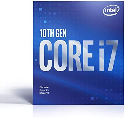 Intel Core i7 10700F Desktop Processor 8 Cores up to 4 8 GHz Without Processor Graphics LGA1200 product image