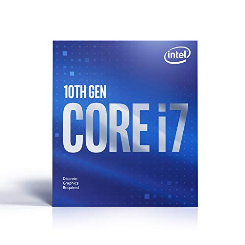 Intel Core i7-10700F Desktop Processor 8 Cores up to 4.8 GHz Without Processor Graphics LGA1200 (Intel 400 Series chipset) 65W