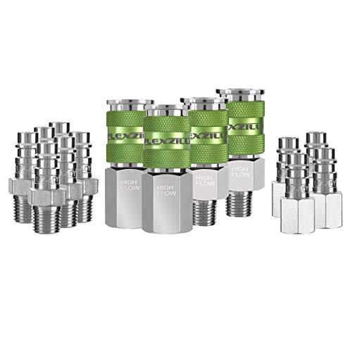 Flexzilla Pro High Flow Coupler & Plug Kit (14 Piece), 1/4