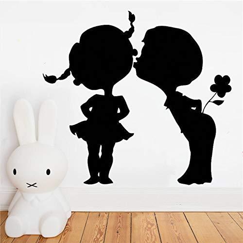 Ajcwhml Pareja de Besos decoración de Amor romántico Pegatinas de Pared de Vinilo Pegatinas de Estilo de Coche escaparate de habitación de niña - 79X87CM-79X87CM
