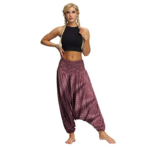 YWLINK 2019 Damen Kleidung,Frauen BeiläUfige Sommer Lose Yoga Hosen Elegant Baggy Boho Aladdin Overall Pluderhosen …