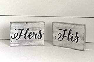 WoodSign His & Hers Hand Painted Sign Set; Hand Painted Sign Decor; his and Hers Sign Decor