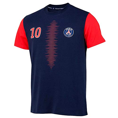 PSG - Camiseta oficial del Paris Saint-Germain 'Neymar Jr' para niños, color azul y rojo