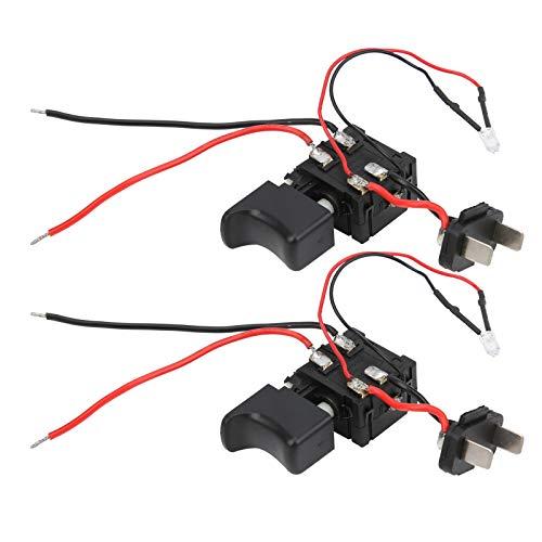 Interruptor de gatillo de herramienta eléctrica ajustable de velocidad de engranaje fijo de alta eficiencia 2 uds.