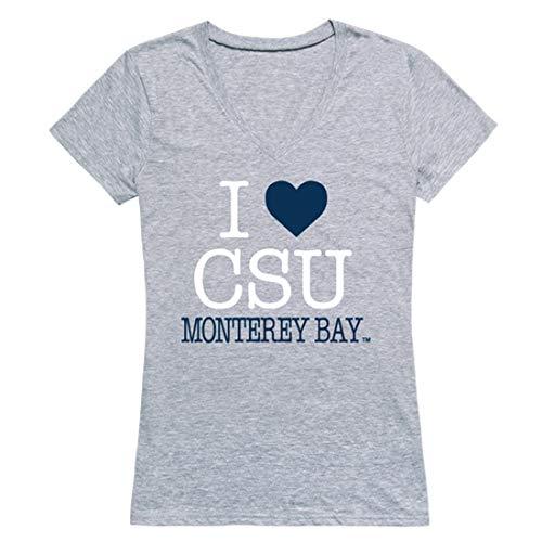 CSUMB Cal State Monterey Bay Otters NCAA I Love Tee - Small, Heather Grey