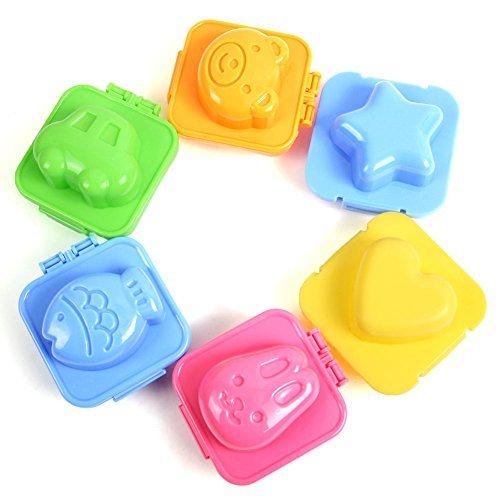 5Five Frühstücksei Sushi-Reis Form Bento Sandwich Maker Cutter für Tortendekoration, Klicken für gr??ere Abbildung, 6 Stück