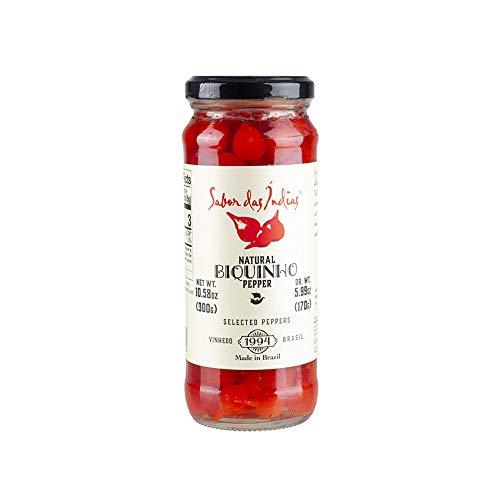 Rote Biquinho-Chilischoten, 300g (Abtropfgewicht 170g) - Pimenta Biquinho SABOR DAS INDIAS 300g