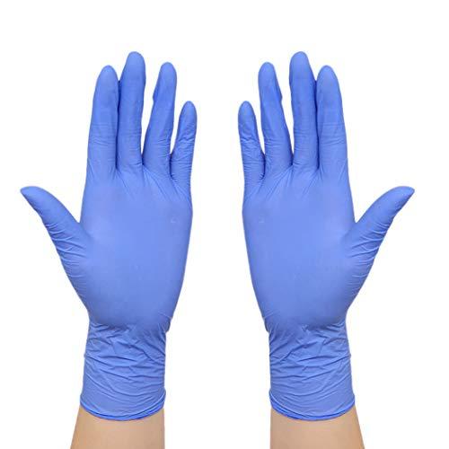 Bageek 100PCS Latex Handschoenen Olie-Proof Afwashandschoenen Schoonmaken Handschoenen Rubber Handschoenen