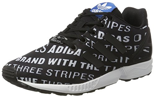 adidas Unisex-Kinder ZX Flux Sneaker Low Hals, Schwarz (Core Black/core Black/FTWR White), 36 2/3 EU