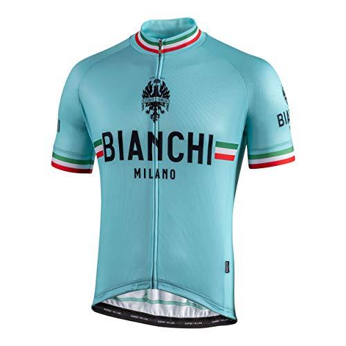 Bianchi Milano Herren Isalle Kurzarmtrikot S Celeste