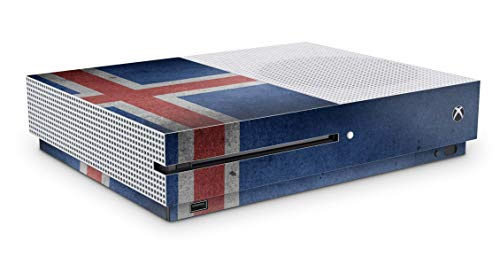 Design Aufkleber Skin Vinyl Schutzfolie kopatibel mit Xbox One S Island Fahne