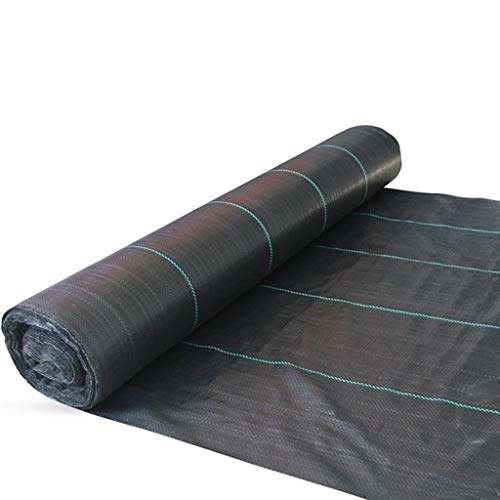 FIDALIKA Landwirtschaftliches Anti-Gras-Tuch, Für Farmorientierte Weed-Barrier-Matte Schwarz Kunststoffmulch Dickerer Obstgartengarten-Weed-Kontrollgewebe (Color : 1M Width, Size : 10M)