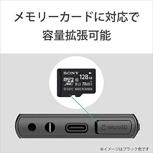 ソニーウォークマン16GBAシリーズNW-A105HN:ハイレゾ対応/bluetooth/android搭載/microSD対応タッチパネル搭載最大26時間連続再生ブラックNW-A105HNB