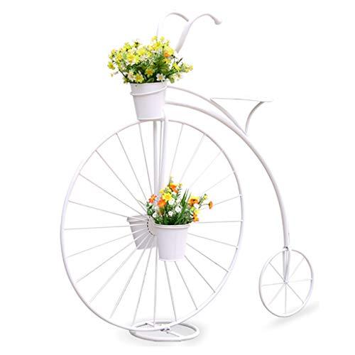 Support de fleur en métal Porte-plantes Style Bicyclette En Fer - Pour Jardins, Terrasses, Jardins D'hiver Ou À La Maison!Conception De Vélo