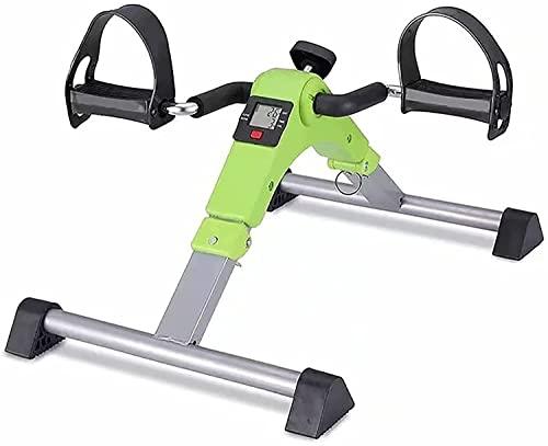 Mini Bicicleta Portátil, Bicicleta de Entrenador de Piernas de Tubo de Estufa de Piernas Hermosas, Entrenador de Pedales, Bicicleta Estática para Brazos y Piernas, Unisex