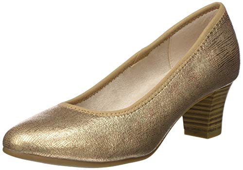 Jana Softline Damen 8-8-22463-24 Pumps, Gold (Rose/Gold 522), 37 EU