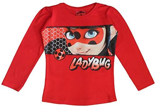 Miraculous Tales of Ladybug and Cat Noir - Camiseta de Manga Larga para niña Rojo Rosso 4 Años