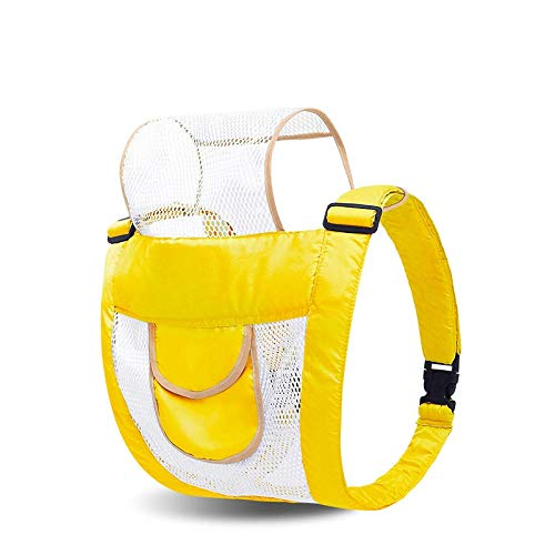Portabebés, delantero y trasero, malla súper transpirable, ligero y simple.-Amarillo