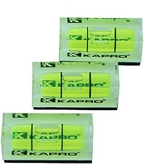 Kapro 243 3 X Mini Spirit 40mm Size Level Magnetic Base Vial Picture Hanging