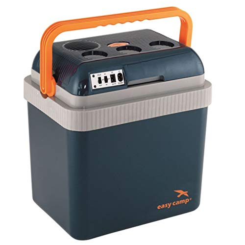 Easy Camp Chilly 12V/230V Coolbox 24L Kühlbox, Blau/Orange/Grau, One Size