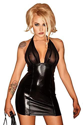 Noir Handmade Damen F058 Kleid mit einzigartiger Opitk, schwarz, Größe 5XL