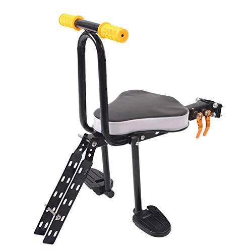 DSAEFG Kinderveiligheid Voorstoel voor Fiets en Elektrische Fiets Stoel met Armsteun en Pedaal Verwijderbare Fiets Kinderstoel Voorzijde Elektrische Fiets
