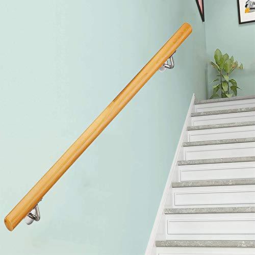 FAFZ Corrimano Antiscivolo per Anziani A Soppalco, Aste di Supporto per Corridoio, Corrimano per Scale in Legno per Uso Domestico Contro Il Muro, 50~600 Cm (Size : 600cm)