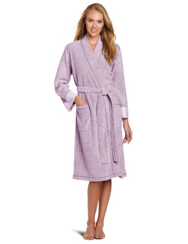 Image of A Popular Pick: Royal Purple Brushed Terry Bathrobe for Women - See More Colors