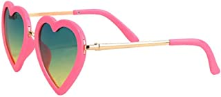 Heart Shaped Sunglasses for Girls (Age 3-10)