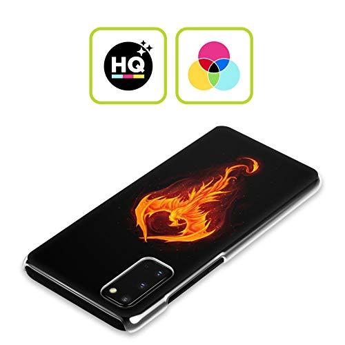 Head Case Designs Offizielle Christos Karapanos Drachen-Phönix Dunkle Stunden Harte Rueckseiten Handyhülle Hülle Huelle kompatibel mit Samsung Galaxy Note9 / Note 9