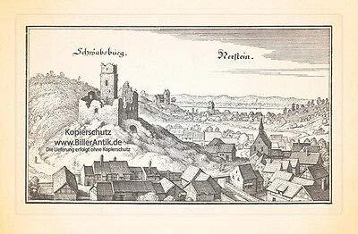 Schwabsburg Nerstein Nierstein Rheinhessen Martinskirche Königstuhl Merian 0684