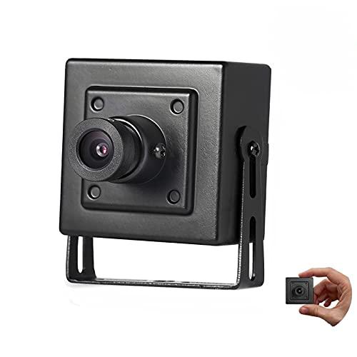 Revotech HD 3 MP Mini Cámara IP, Cámara de Seguridad Interior ONVIF 75 Grados Ángulo de Visión P2P Vista Remota Cámara de Video CCTV 20 fps H.265 (I706 Negro)