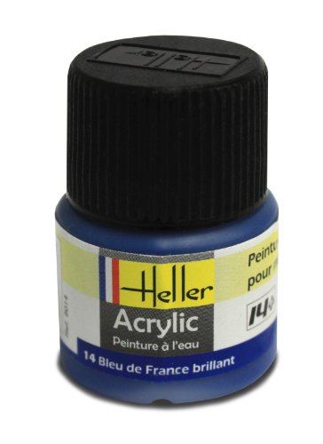 Heller 9014 - Modellismo, Colore Acrilico, Colore: Blu Francia Brillante [Importato da Francia]