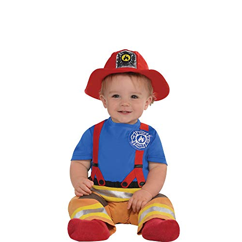 amscan Baby First Fireman Costume - 12-24 Months, Multicolor