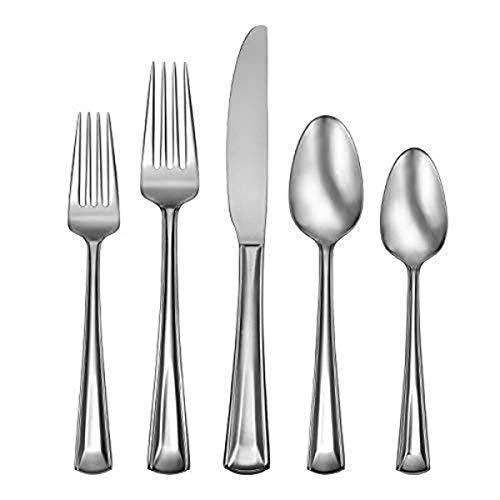 Oneida Cella 20 Piece Everyday Flatware 18/0 Stainless Steel, Service for 4, Silverware Set