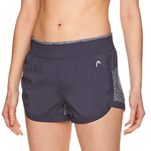 Head pantalones cortos de entrenamiento atlético para mujer – Pantalones cortos de entrenamiento y running para tenis -  Gris -  M
