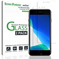 2-Pack amFilm Glass Screen Protector for iPhone SE, 8, 7, 6S, 6