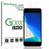 amFilm Glass Screen Protector for iPhone SE 2020, iPhone 8, 7, 6S, 6 (4.7')(2 Pack) Halo Free Tempered Glass Screen Protector (2020)