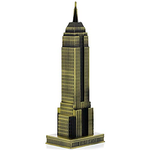 Juvale Empire State Building Statue, Bronze (8-Inch)