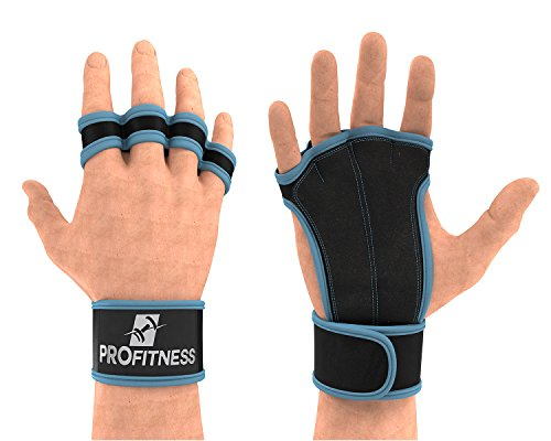 ProFitness Lifting Gloves Spartan Gloves Workout Gloves Women with Wrist Support Gloves Women Cross Training Gloves Weight Lifting Gloves Women Golds Gym Gloves Workout Grips Mens (Turquoise, Small)