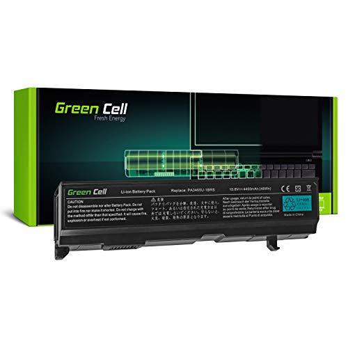 Green Cell® Standard Serie PA3465U-1BRS Batería para Toshiba Satellite A100 A105 A110 A135 M40 M70 Ordenador (6 Celdas 4400mAh 10.8V Negro)