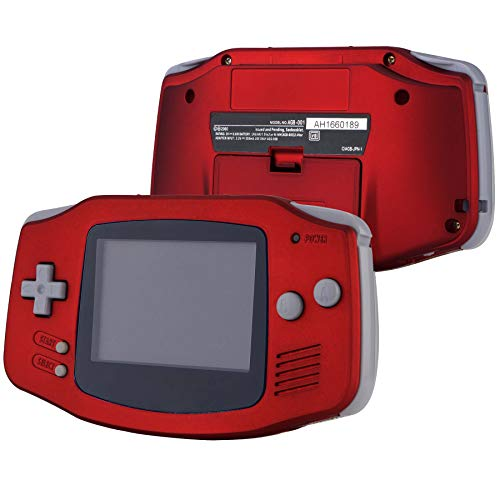 eXtremeRate Scarlet Red Soft Touch GBA Replacement Full Housing Shell Cover w/Buttons Screws Screwdriver Tools Set for Gameboy Advance - Handheld Game Console NOT Included