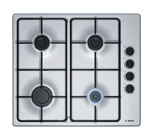 Bosch Electroménager PBP6B5B80 Plaque à gaz Série 2 - Plaque de cuisson encastrable 4 foyers - 60 cm - Puissance 7400 W - Acier Inox Taille Unique