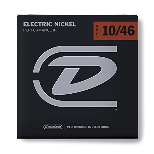 Dunlop 3PDEN1046 Nickel Wound Electric Guitar Strings, Medium, .010–.046, 3 Sets/Box