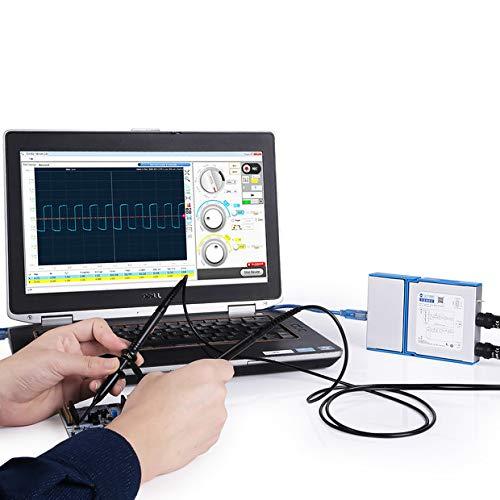 SainSmart DS802 Osciloscopio de PC virtual de dos canales, ancho de banda analógico de 25 MHz, frecuencia de muestreo de 80 MSps