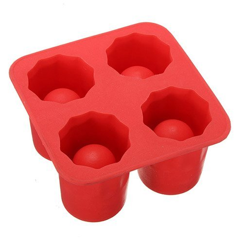 MOULE SILICONE 4 VERRES glacons DES GLACE ICE MOLD SHOOTER
